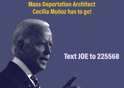 Tell President-Elect Joe Biden: Mass Deportation Architect Cecilia Muñoz has got to go!