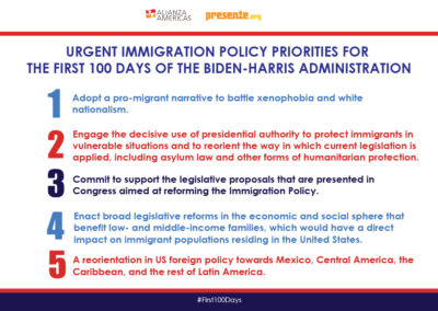 Urgent Immigration policy priorities for First 100 Days of Biden-Harris Administration