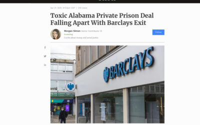 Toxic Alabama Private Prison Deal Falling Apart With Barclays Exit
