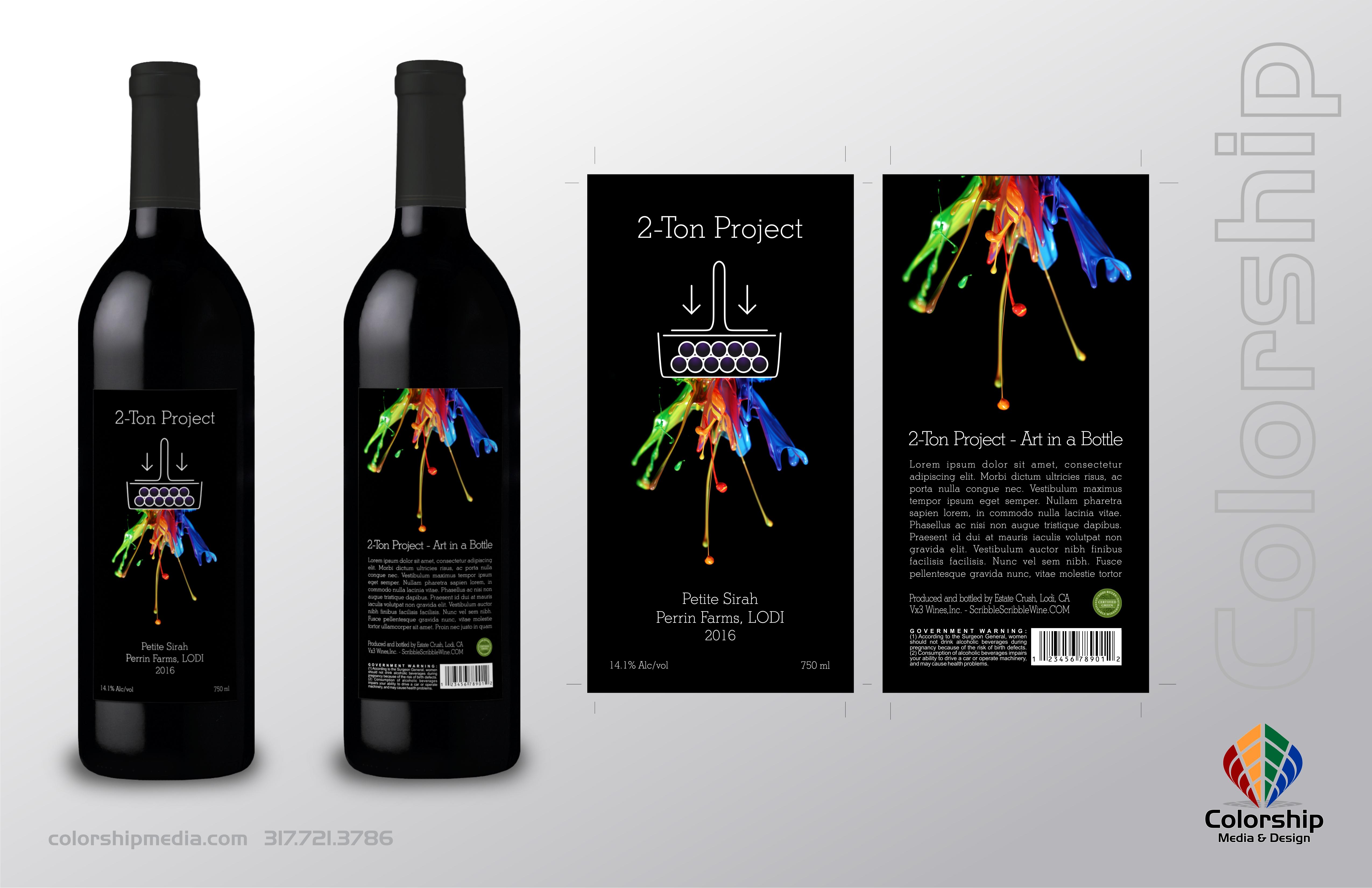 2-Ton Crush Wine Packaging Design