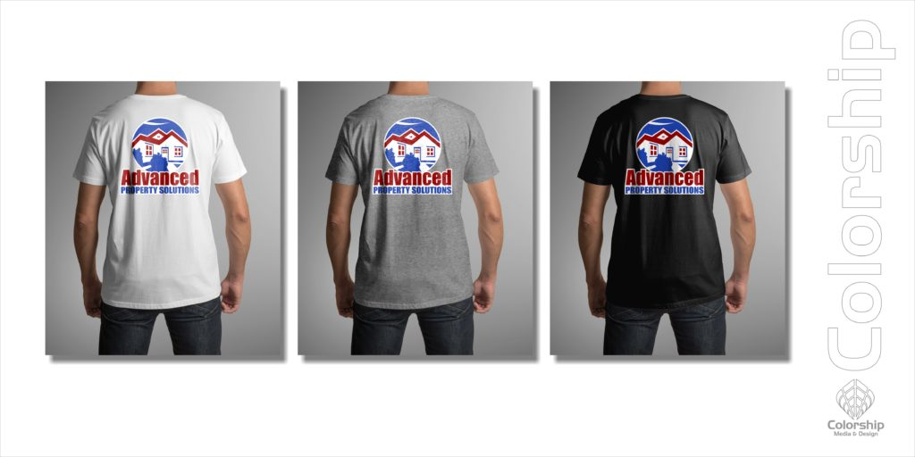 Advanced Property Solutions Logo SHirt examples