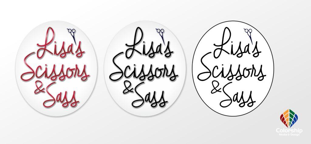 Lisa's Sissors and Sass logo