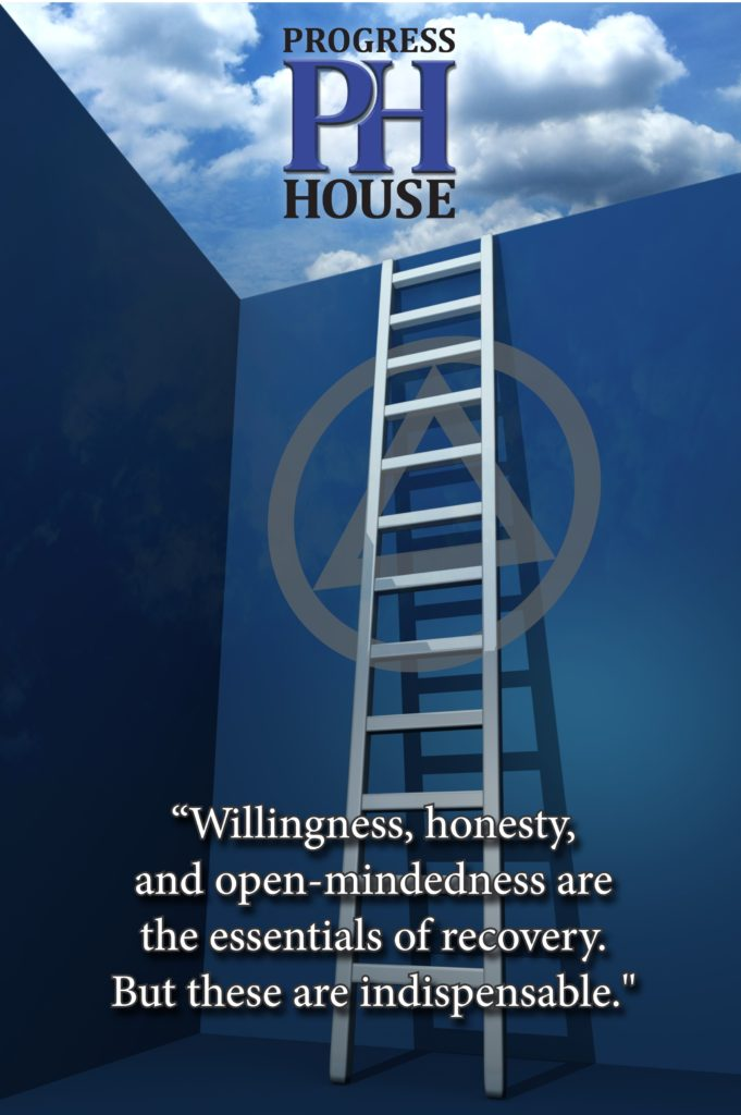 Progress House Ladder Poster