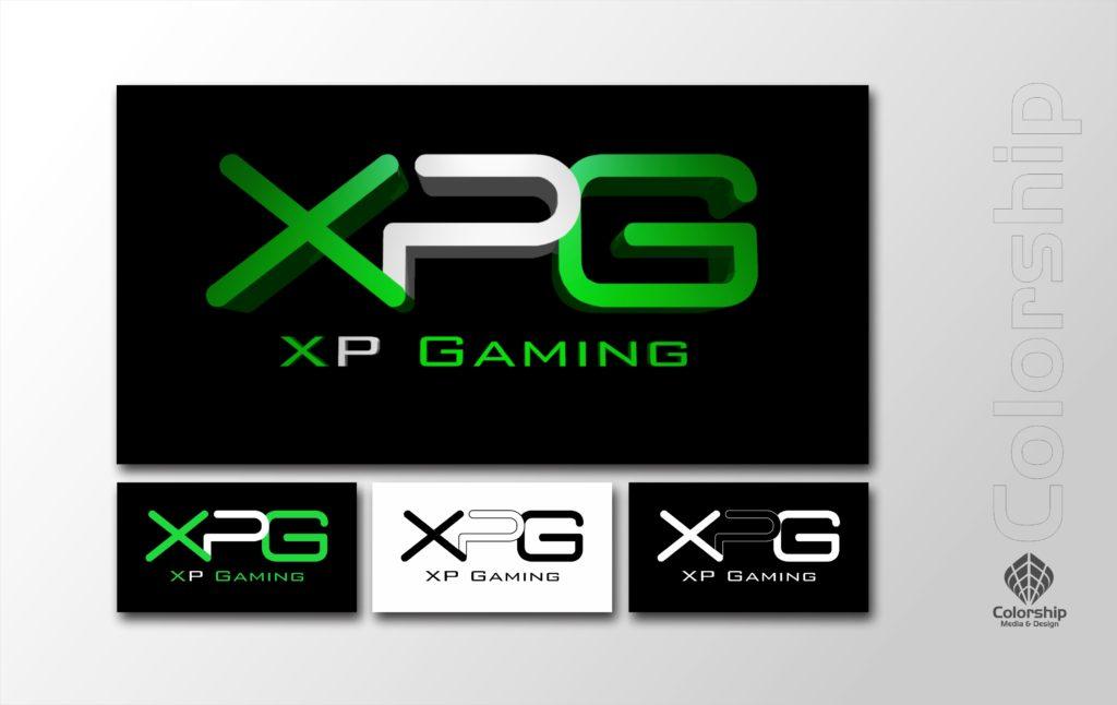 XPGaming Logo Set and Presentation in Green