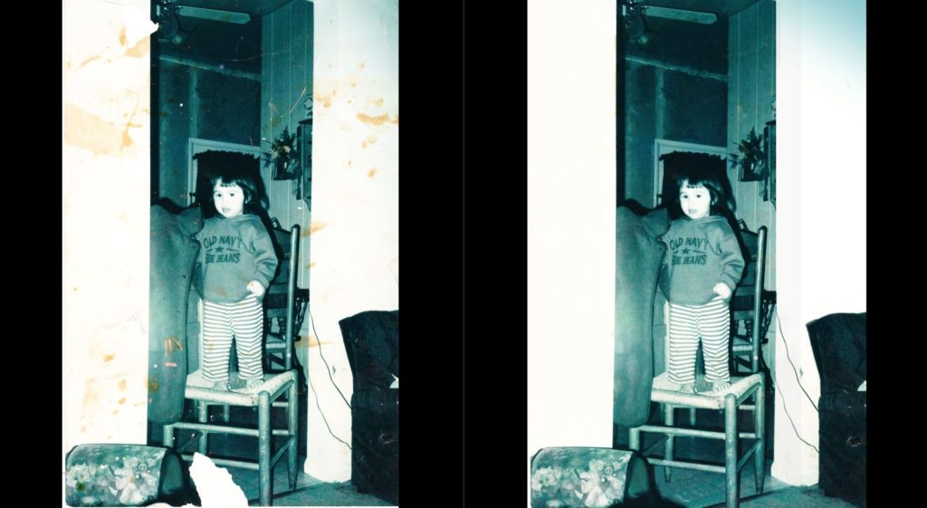 dIGITAL pHOTO RESTORATION BEFORE AND AFTER