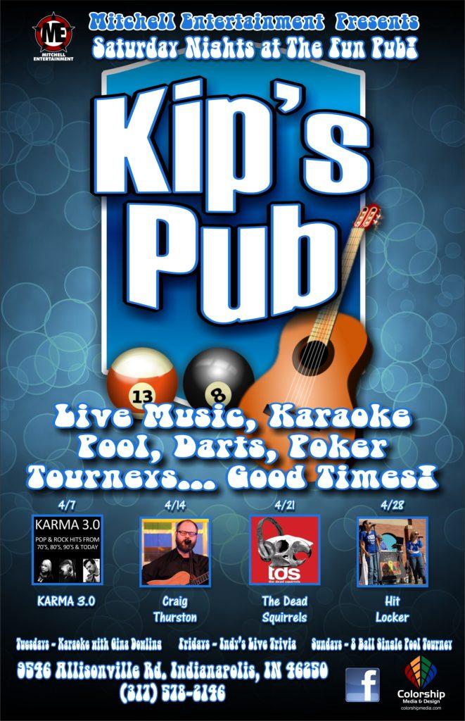 kip's pub poster April 2018