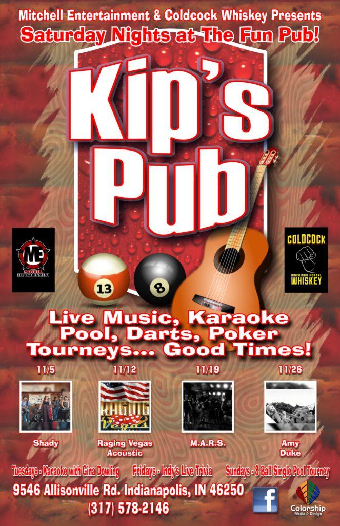 kip's pub poster november 2016