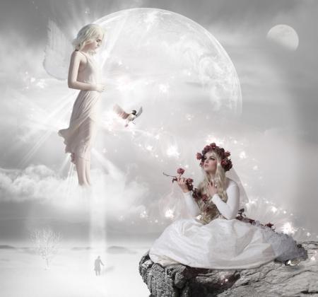 Angel and girl