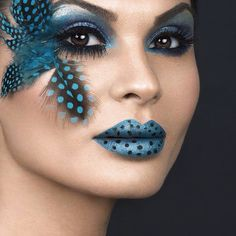 Lady with unusual Makeup