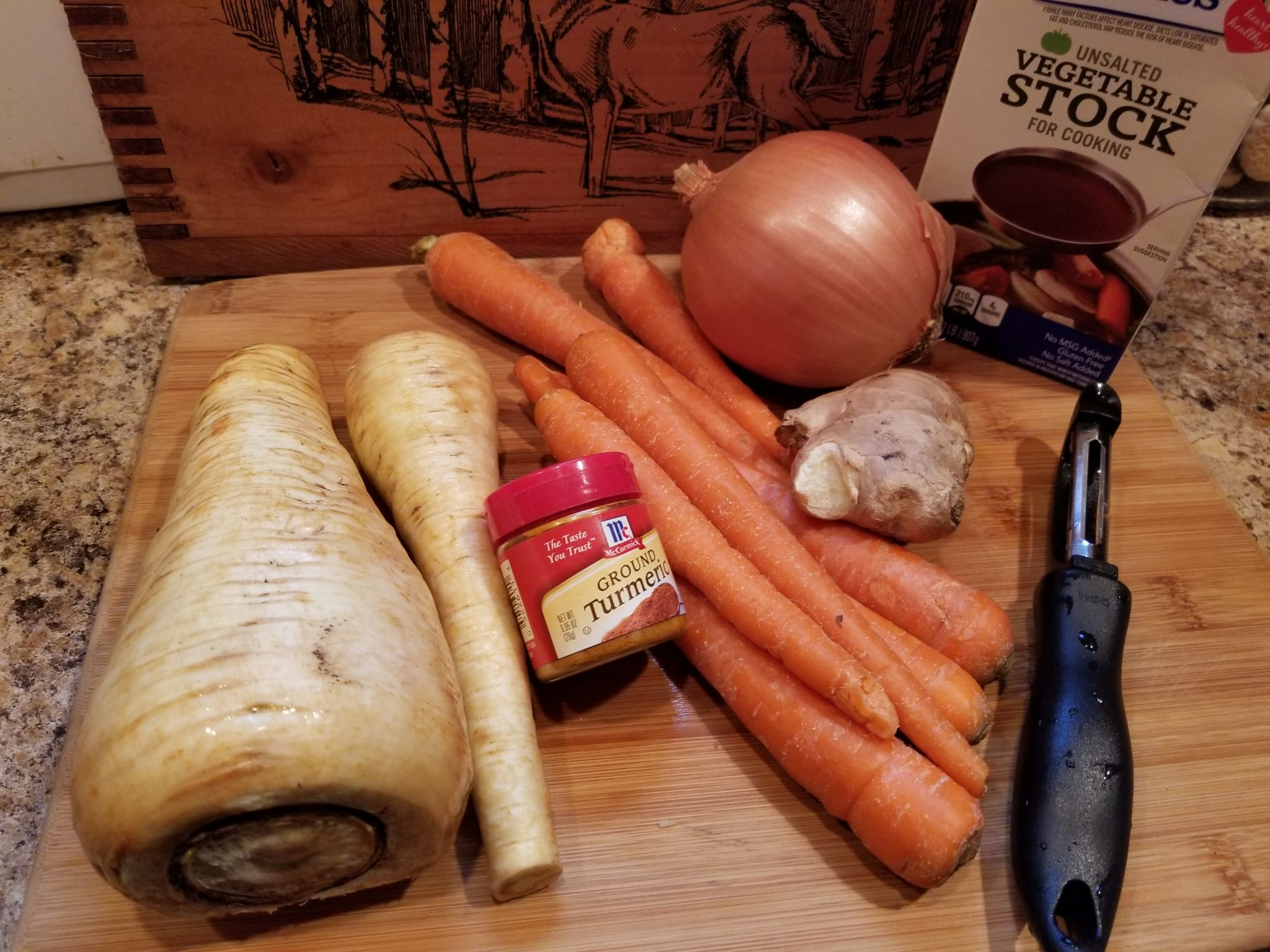 Turmeric Ginger Carrot Parsnip Soup