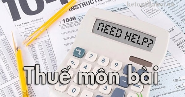 Cách hạch toán thuế môn bài theo thông tư 133