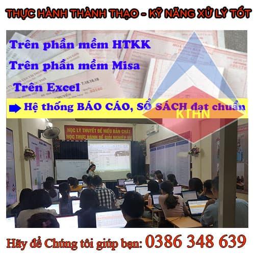 trung tâm dạy kế toán thực hành tại Vĩnh Phúc
