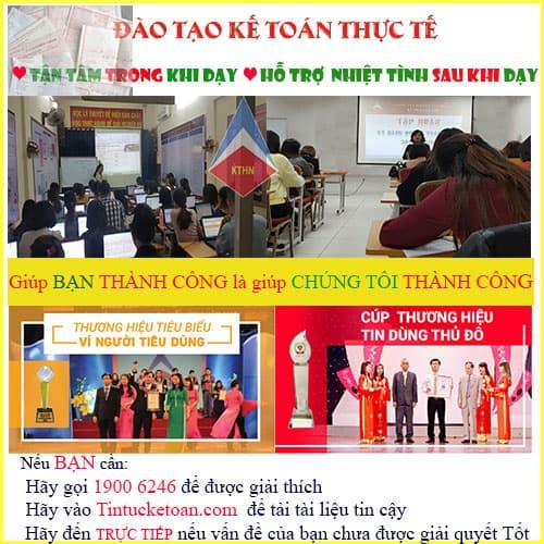 Địa chỉ học kế toán tổng hợp tại Thanh Xuân Hà Nội