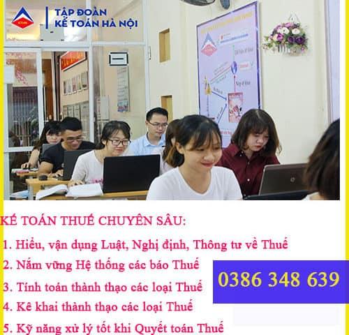 Trung tâm đào tạo kế toán thuế tại Lê Chân