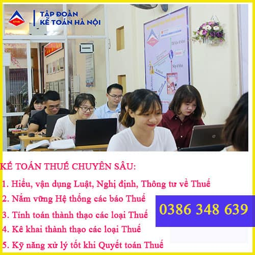 khóa học kế toán thuế tại Đà Nẵng