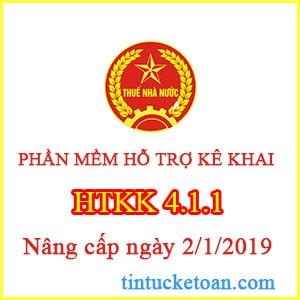Nâng cấp hỗ trợ kê khai thuế phiên bản 4.1.1 ngày 02/01/2019