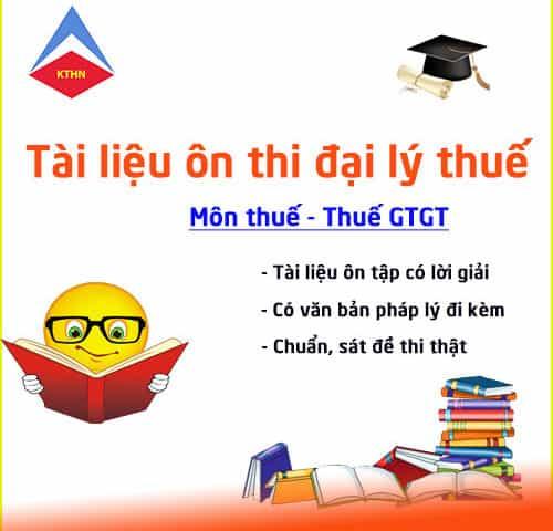 Lớp ôn thi đại lý thuế tại Bắc Ninh