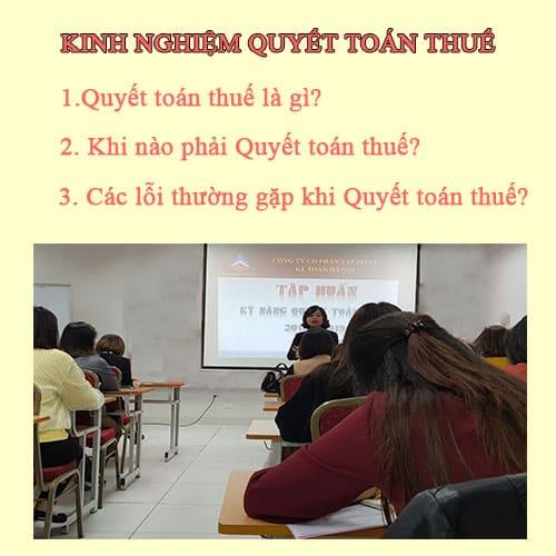 Dịch vụ kê khai thuế tại Thanh Oai