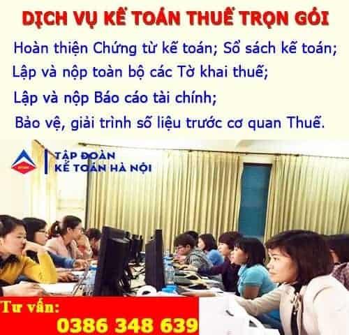 Dịch vụ khai báo thuế tại Ba Vì Hà Nội