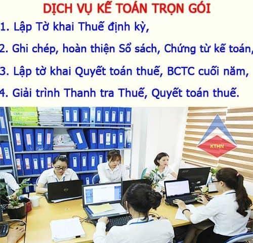 Dịch vụ kế toán trọn gói tại Vệ An Bắc Ninh