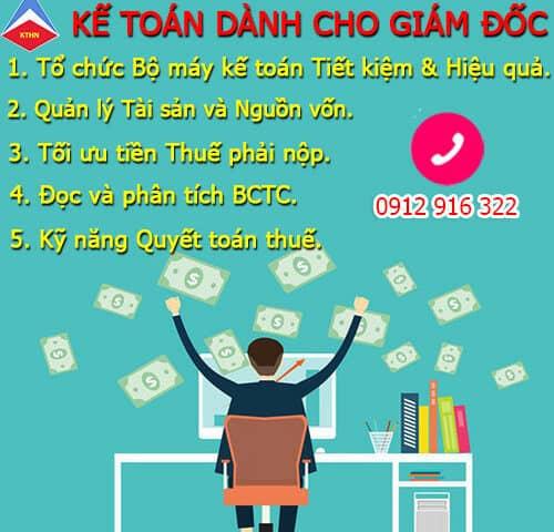 Khóa kế toán dành cho Giám đốc tại Hà Nội