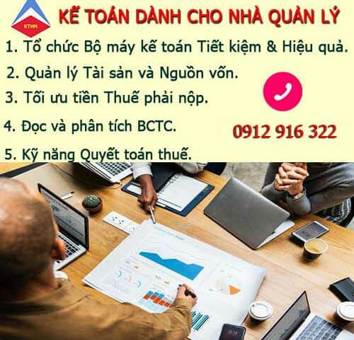 Khóa kế toán dành cho Quản lý tại Hà Nội