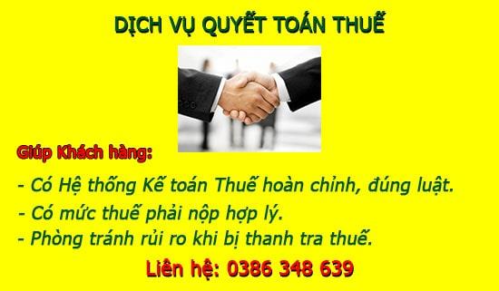 Nhận làm Dịch vụ quyết toán thuế cuối năm tại Thanh Xuân Hà Nội