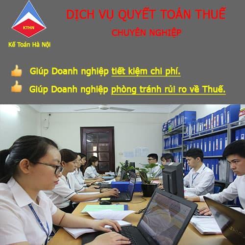 Nhận làm dịch vụ quyết toán thuế cuối năm tại Thanh Trì