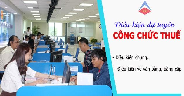 Điều kiện dự thi công chức thuế mới nhất