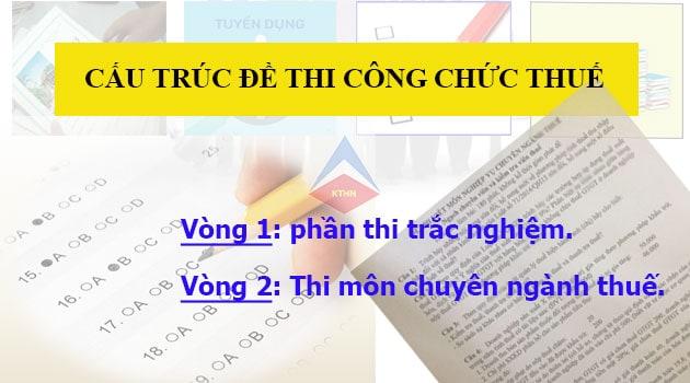 Cấu trúc đề thi công chức thuế