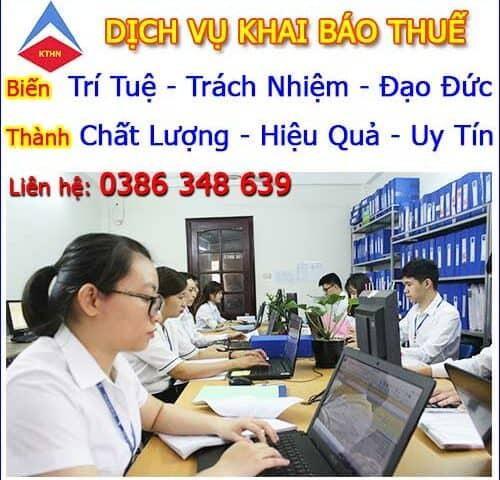 Dịch vụ kê khai thuế tại Thanh Xuân