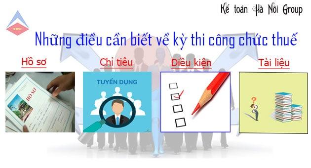 Các quy định về kỳ thi công chức thuế