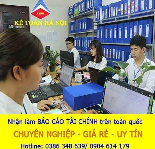 Dịch vụ làm báo cáo tài chính tại Vân Dương Bắc Ninh