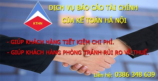 Nhận làm Dịch vụ làm báo cáo tài chính tại Phú Xuyên Hà Nội
