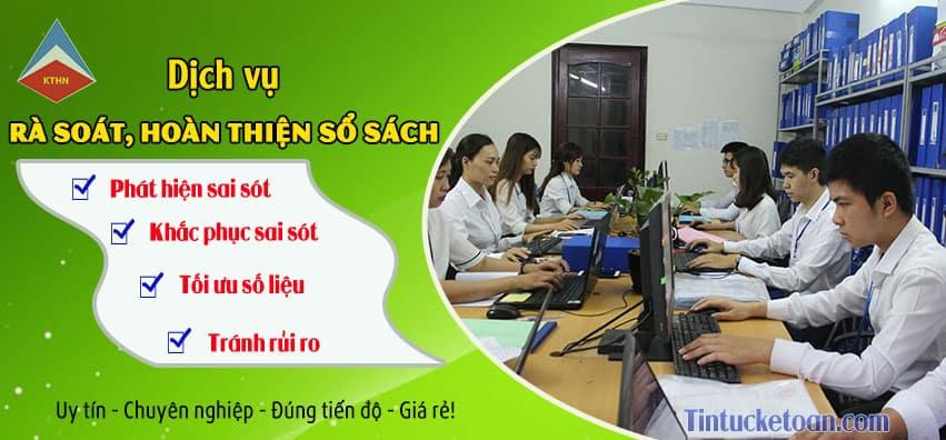 Dịch vụ hoàn thiện sổ sách kế toán tại Thanh Xuân