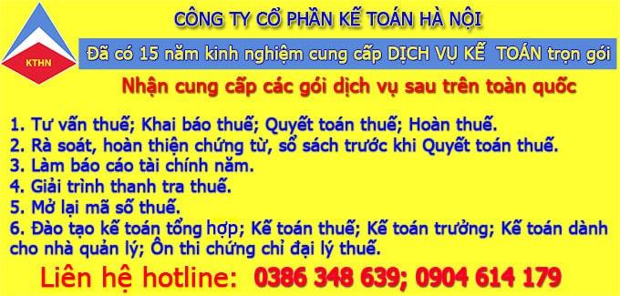 Công ty dịch vụ kế toán thuế tại Hoàn Kiếm