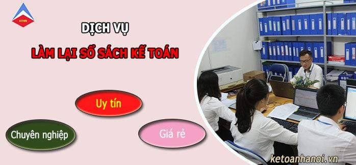 Dịch vụ làm lại sổ sách kế toán tại Hà Nội