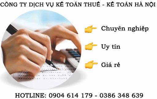 Công ty dịch vụ kế toán thuế ở Gia Lâm