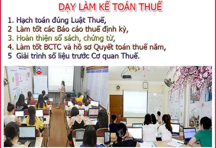 Lớp học kế toán thuế tại Yên Phong chất lượng cao