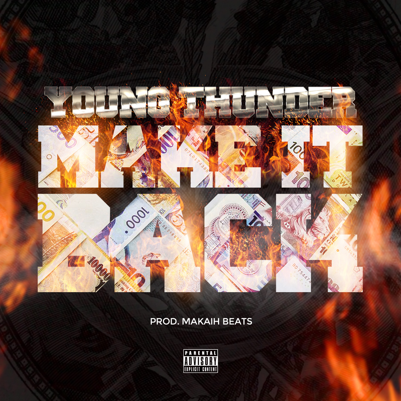 """Young Thunder – """"Make It Back"""" Prod. By Makaih Beats"""