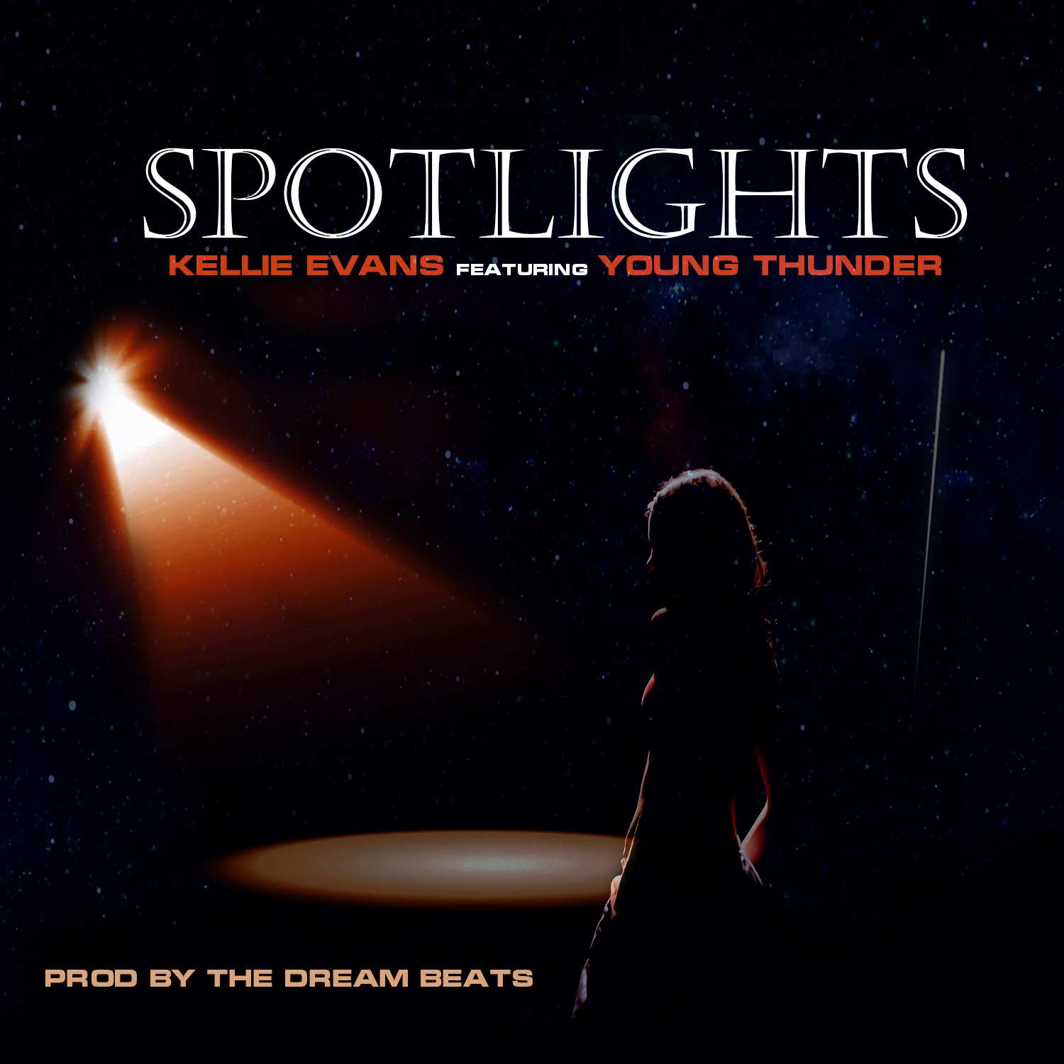 Kellie Evans – Spotlights Featuring Young Thunder Prod. By The Dream Beats