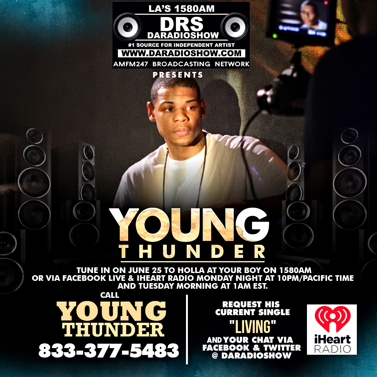 Young Thunder live on DARADIOSHOW June 25th.