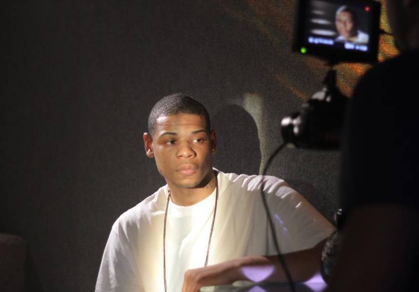 Young Thunder video shoot in Hollywood California.
