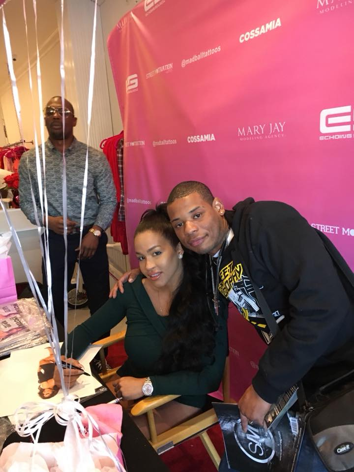 Young Thunder & actress Rosa Acosta from Love & Hip Hop Hollywood at a Street Motivation Magazine event in LA.