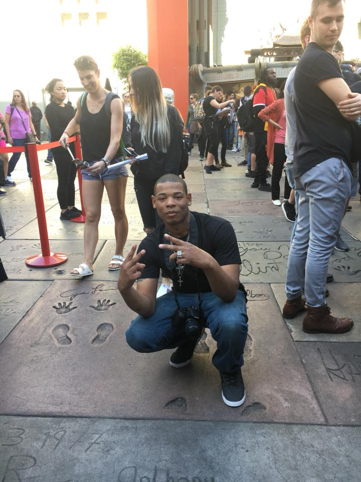 Young Thunder at The Chinese Theater in Hollywood, CA.