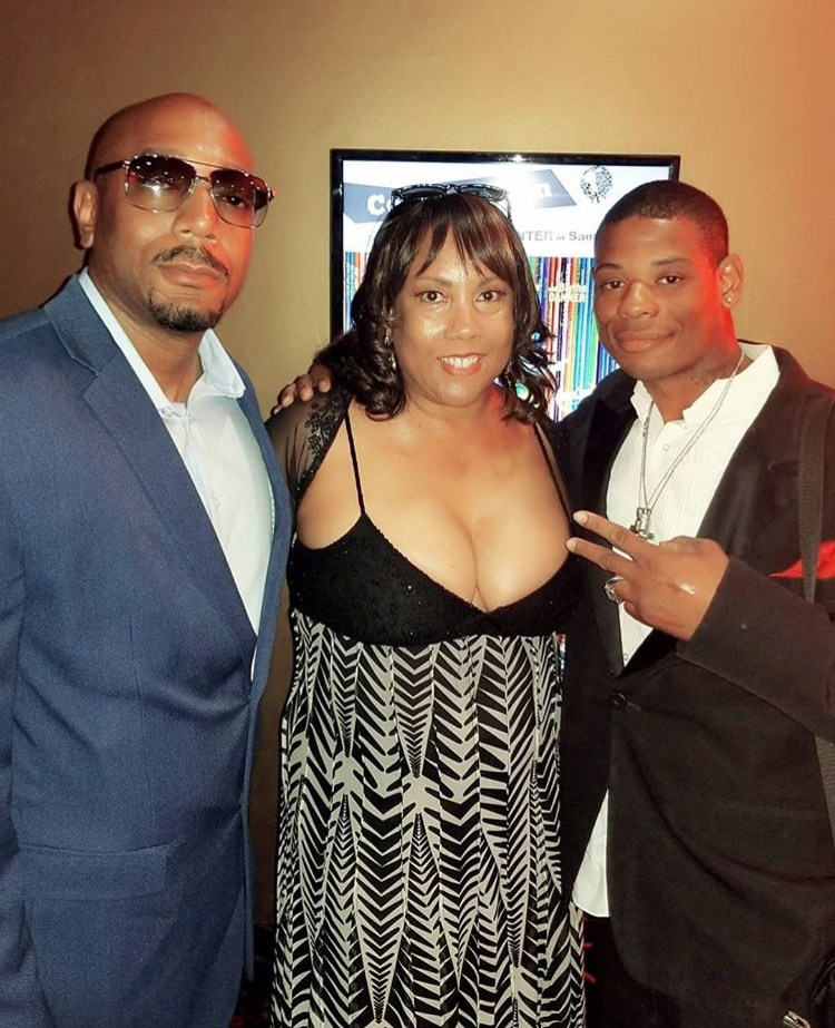 Young Thunder & publicist Marie Lemelle from Platinum star pr & director/writer Brian Berry.
