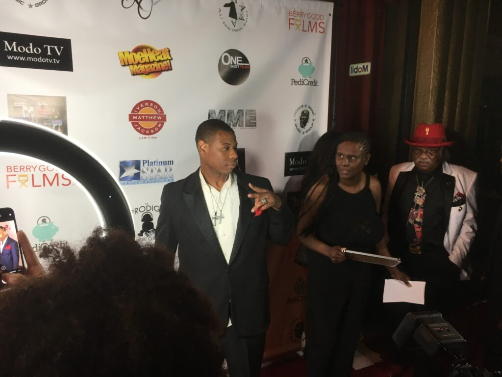 "Young Thunder at the red carpet movie premiere to the movie ""Hey Mr. Postman"" at the Fine Arts Theater in Beverly Hills, CA."