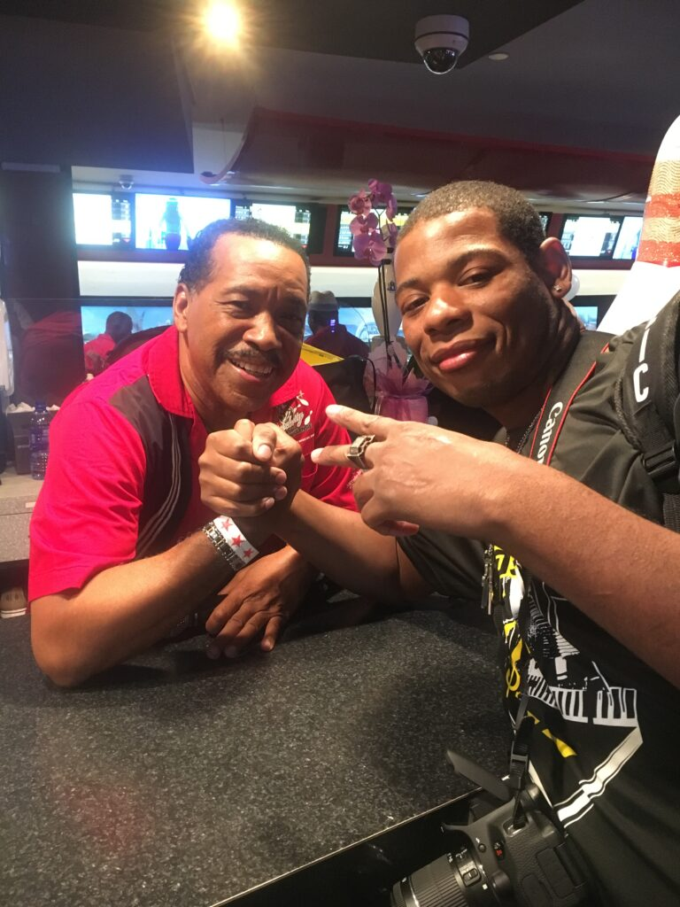 Young Thunder & actor Obba Babatunde in LA.