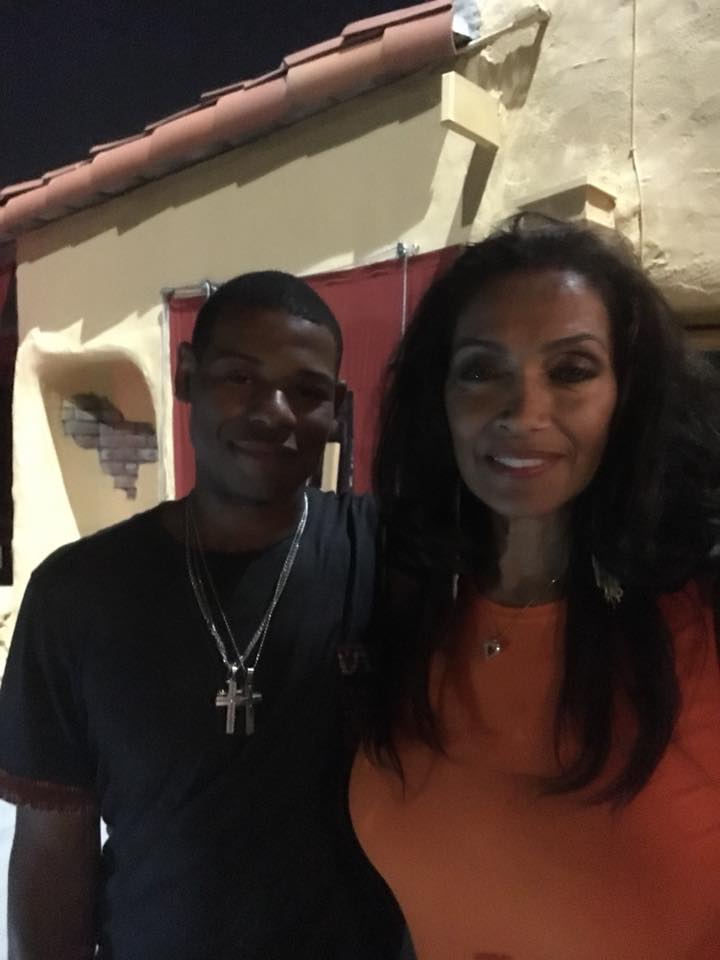 Young Thunder & actor Kathleen Bradley a.k.a Ms. Parker from the movie Friday in LA