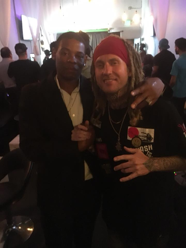 Young Thunder & Billboard Charting artist Iakopo at DARADIOSHOW Industry Connects Pre-party in LA.